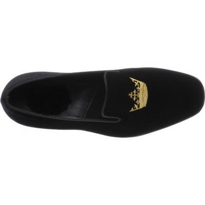 Men Black Velvet Loafer Slippers wi..