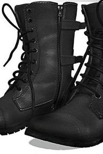 Handmade Men military style boots ,Men's real combat stylish leathers boot