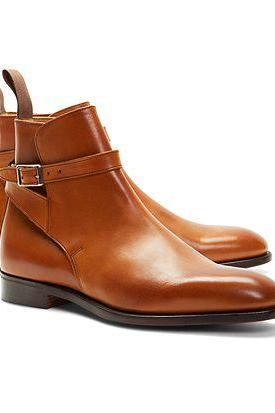 Handmade men tan jodhpurs boot, Men's real leather boots