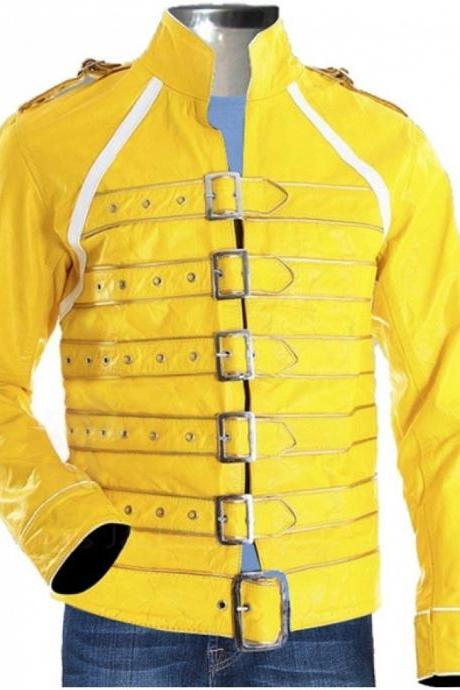 Leather Skin Yellow Mens Real Leather Jacket