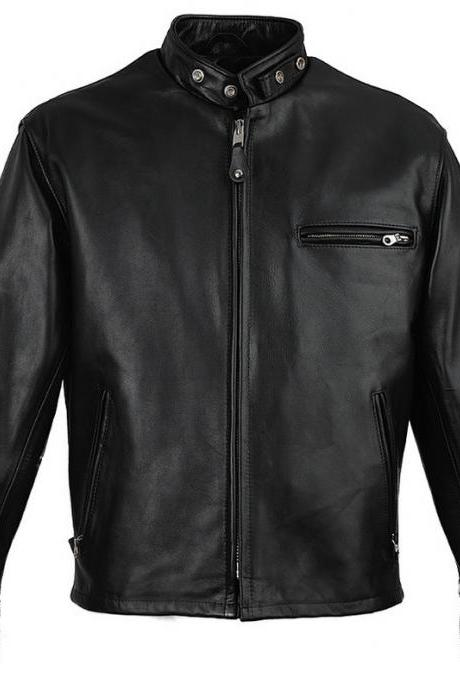 NWT Black Fashion Stylish Sexy Premium Genuine Real Leather Jacket