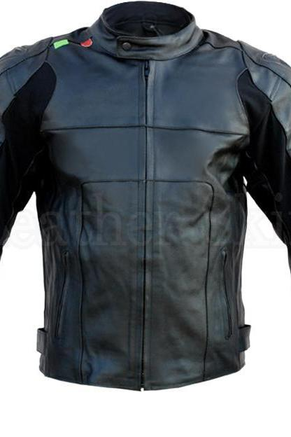 Scorpio Leather Jacket ,Scorpion Black Mens Men Biker Motorcycle Jacket