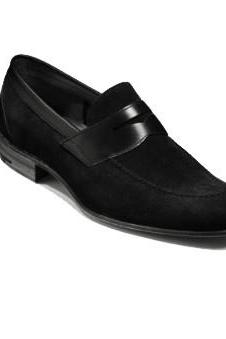 Men Black Moccasins Suede Leather Shoes